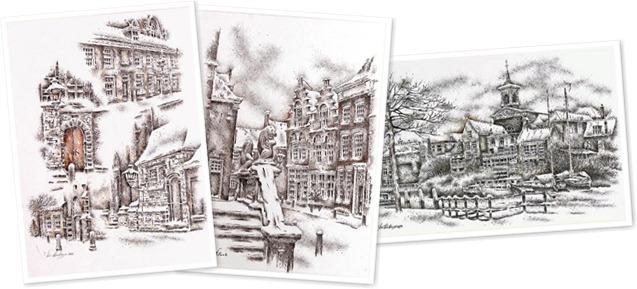 Tekeningen Jan Hensema weergegeven